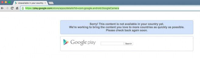 Google Fotocamera no Play Store