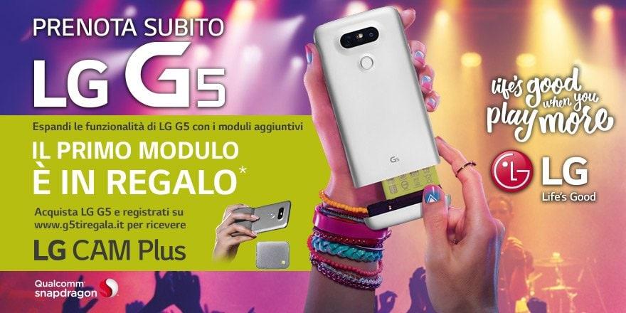 LG G5 pre-ordine Euronics