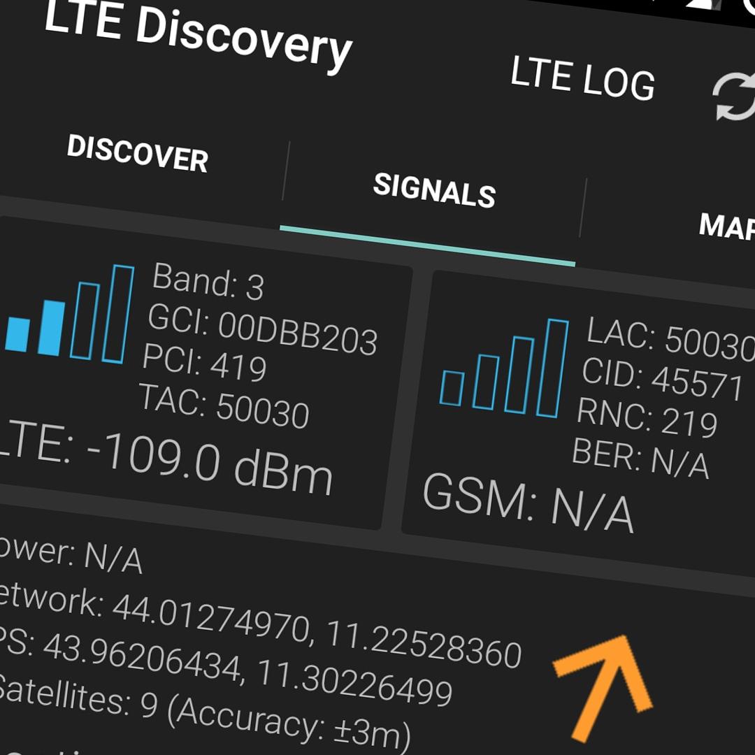 App Android Per Analizzare Rete Lte Lte Discovery Androidworld