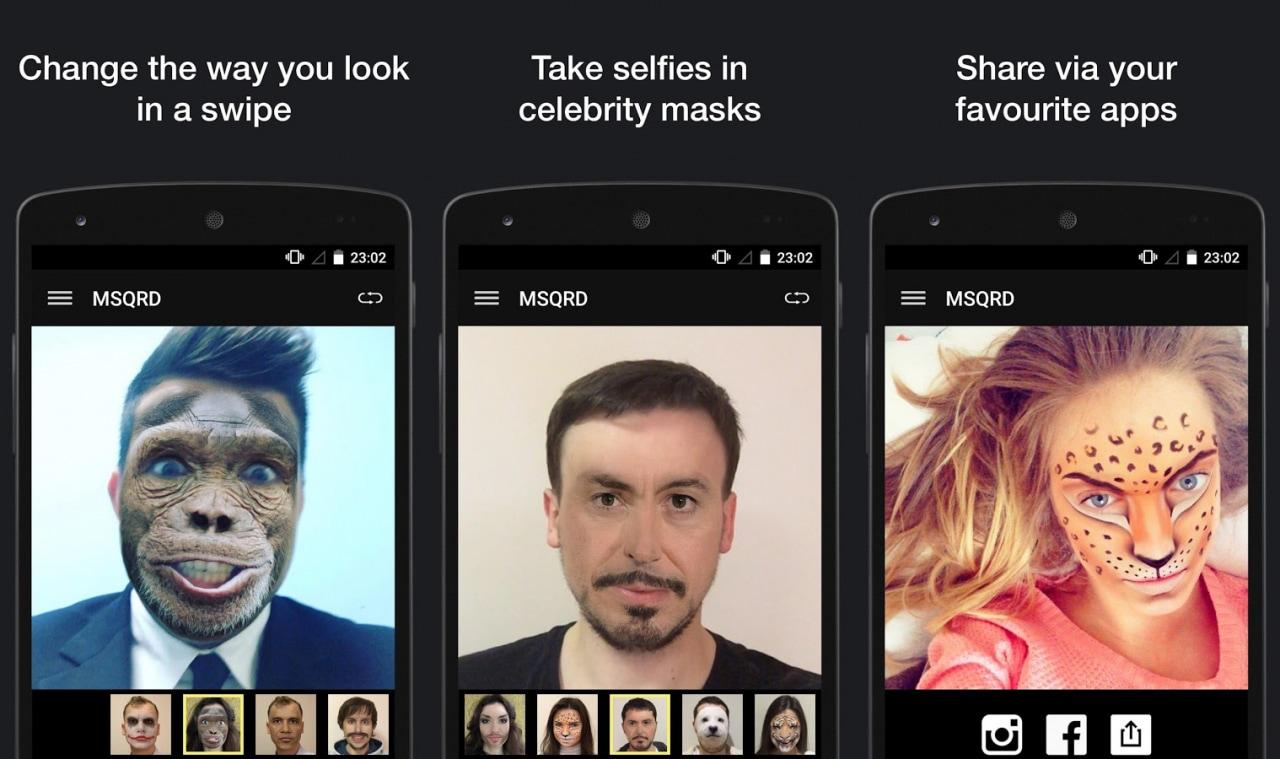 MSQRD si aggiorna con 6 nuove maschere ancora più folli (foto)