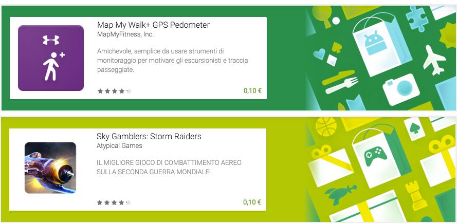 Map My Walk+ GPS Pedometer e Sky Gamblers: Storm Raiders sono scontati a 10 centesimi