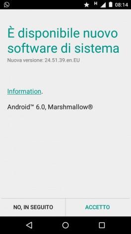 Marshmallow Moto E 2015 - 1