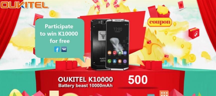 Oukitel K6000 Pro si aggiorna a Marshmallow, e K10000 sarà in offerta per una settimana