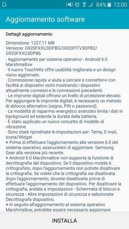 Samsung Galaxy S6 aggiornamento Marshmallow - 1