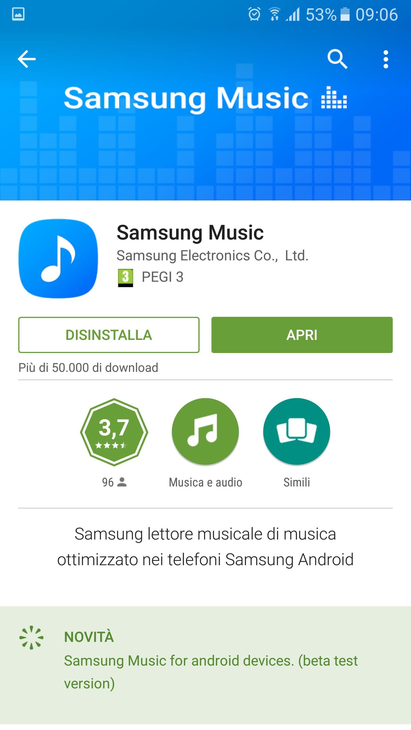 Samsung Music approda sul Play Store (per Galaxy S7) | Foto