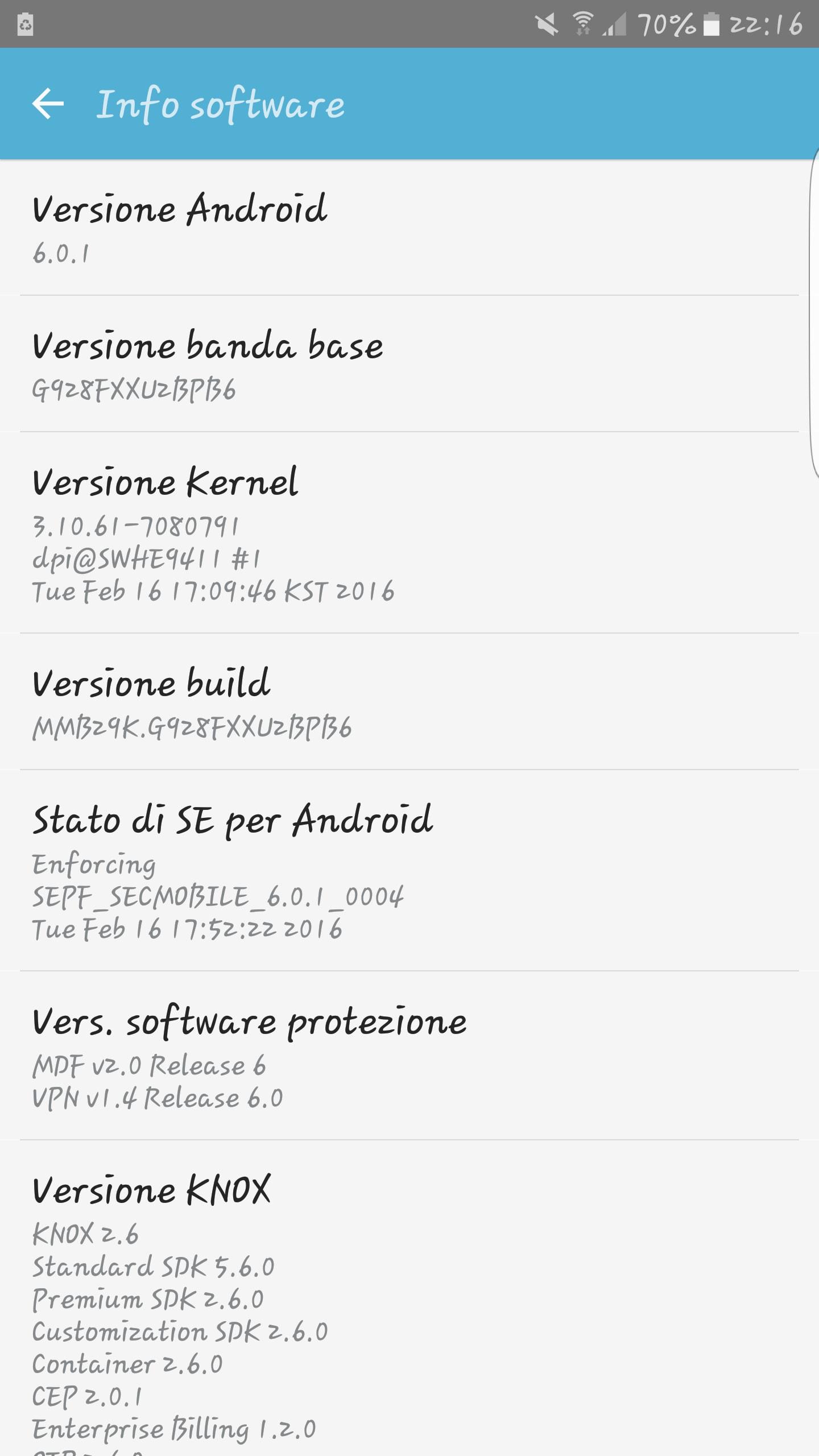 Android 6.0.1 Marshmallow per Samsung Galaxy S6 edge+ – 1