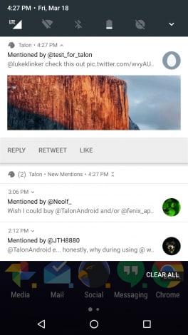 Talon - notifiche Android N