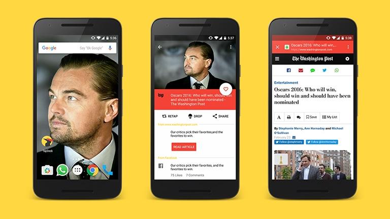 Con TapDeck 4.0, lo sfondo diventa il centro delle vostre notizie (foto)