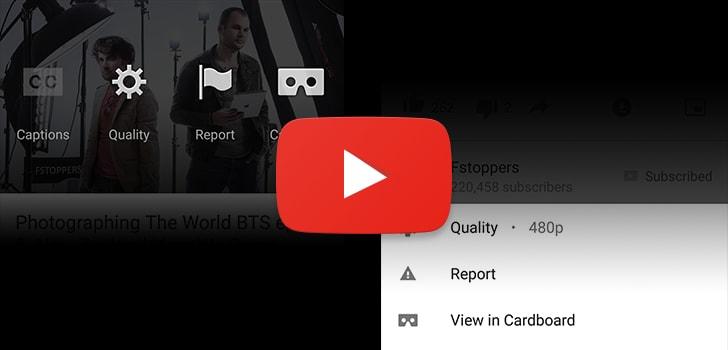 YouTube - Menu Opzioni Card - 0