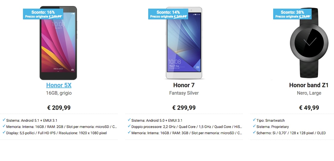 flash sale Honor 5X Honor 7  band Z1