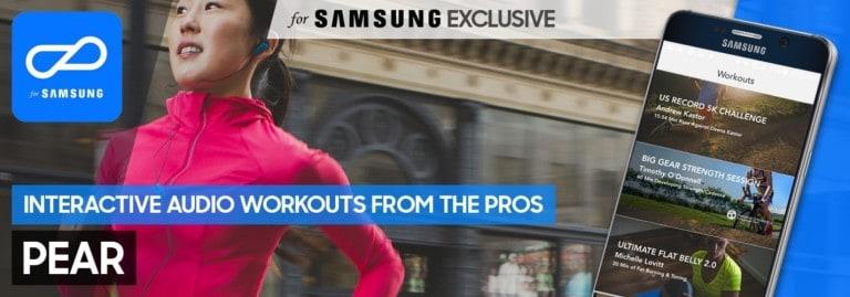 Samsung si allea con Pear Sports per un'esclusiva app dedicata al fitness