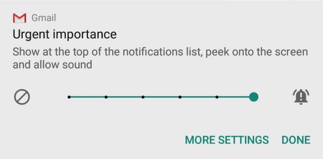 Android N - dev preview 2 - livello priorità notifiche