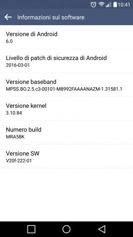 LG G4 TIM Marshmallow screenshot - 1