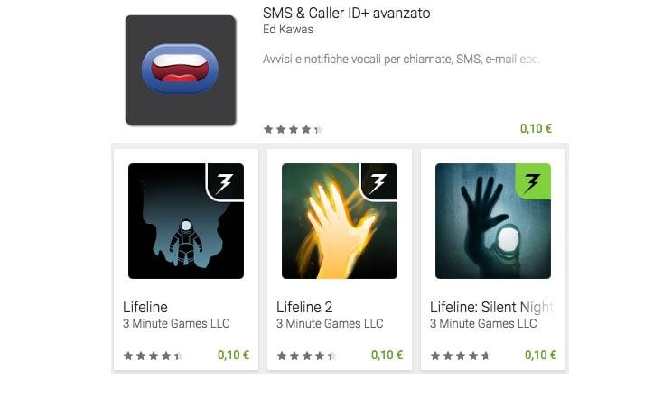 La serie Lifeline ed SMS & Caller ID+ sono i giochi e l'app a 10 centesimi di questa settimana