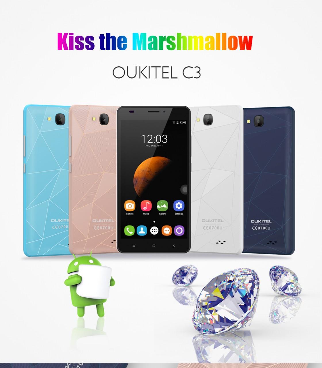 Volete uno smartphone Marshmallow a 39$? Tra 10 giorni ci sarà Oukitel C3... (video)