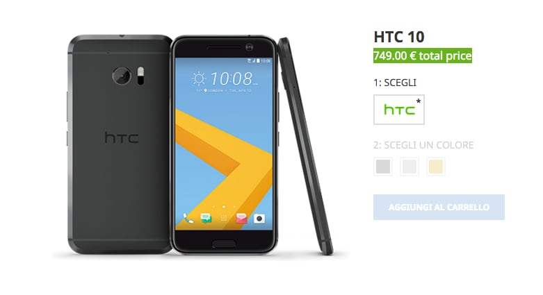 HTC fa già marcia indietro: -50€ sul prezzo in Italia di HTC 10
