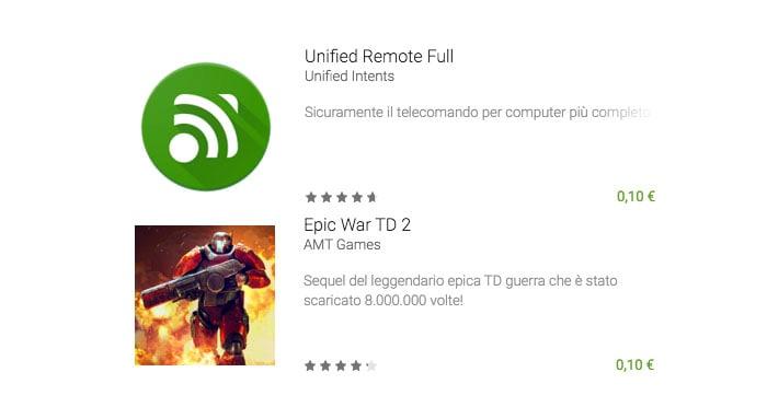 Un gioco e un'app a 10 centesimi? Questa settimana ci sono Unified Remote Full ed Epic War TD 2