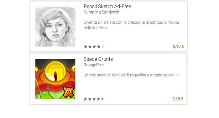 Pencil Sketch e Space Grunts sono le offerte della settimana di Google Play