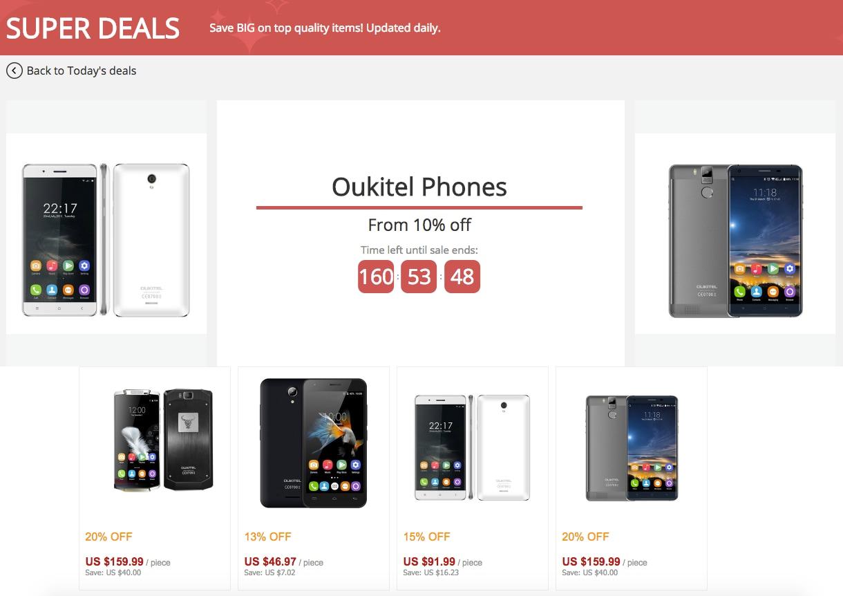 Ben 9 smartphone OUKITEL in offerta su AliExpress: si va dai 41€ai 140€