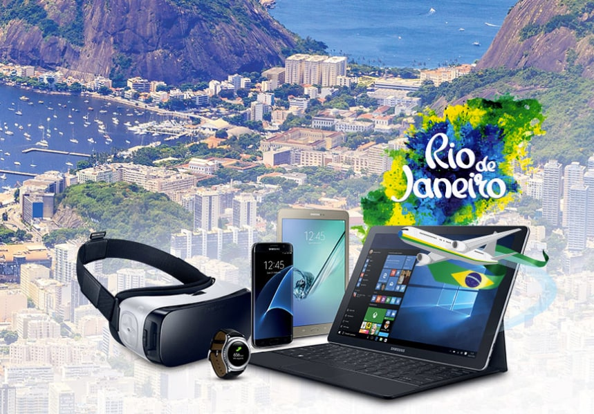 Con Samsung puoi volare a Rio