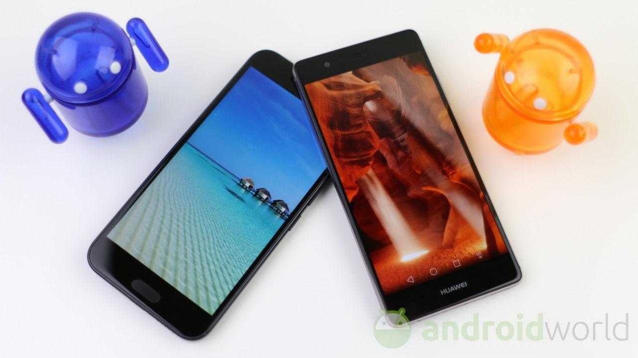 Confronto HTC 10 - Huawei P9