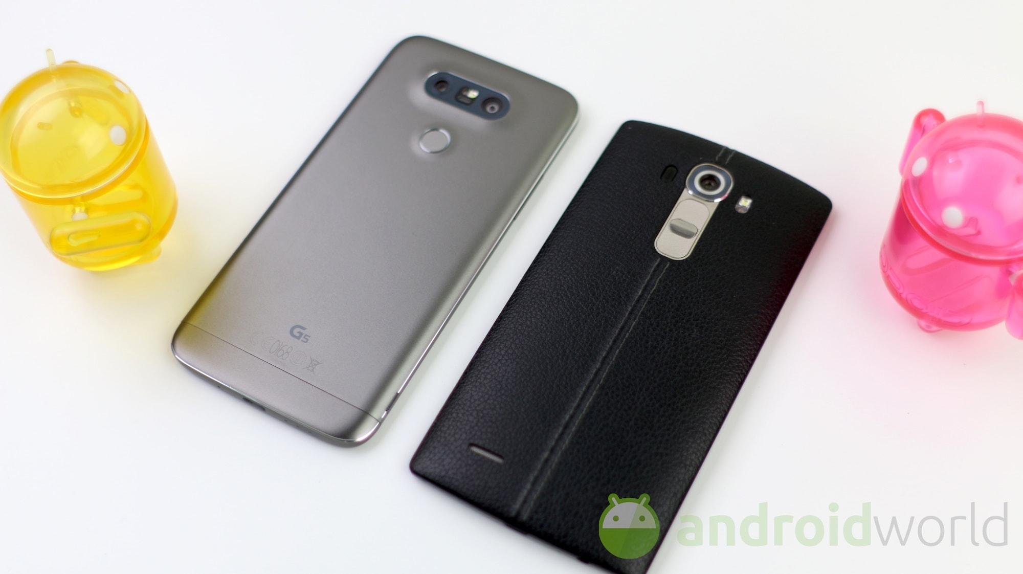Confronto LG G5 – G4 – 5