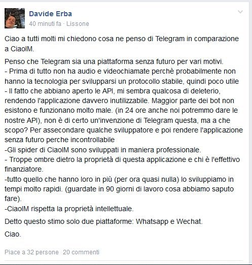 Davide Erba su Telegram