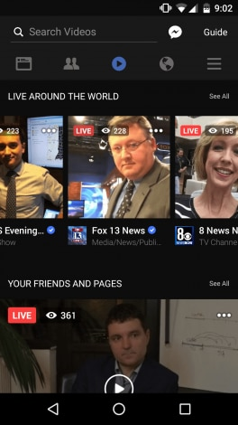 Facebook Live - tab