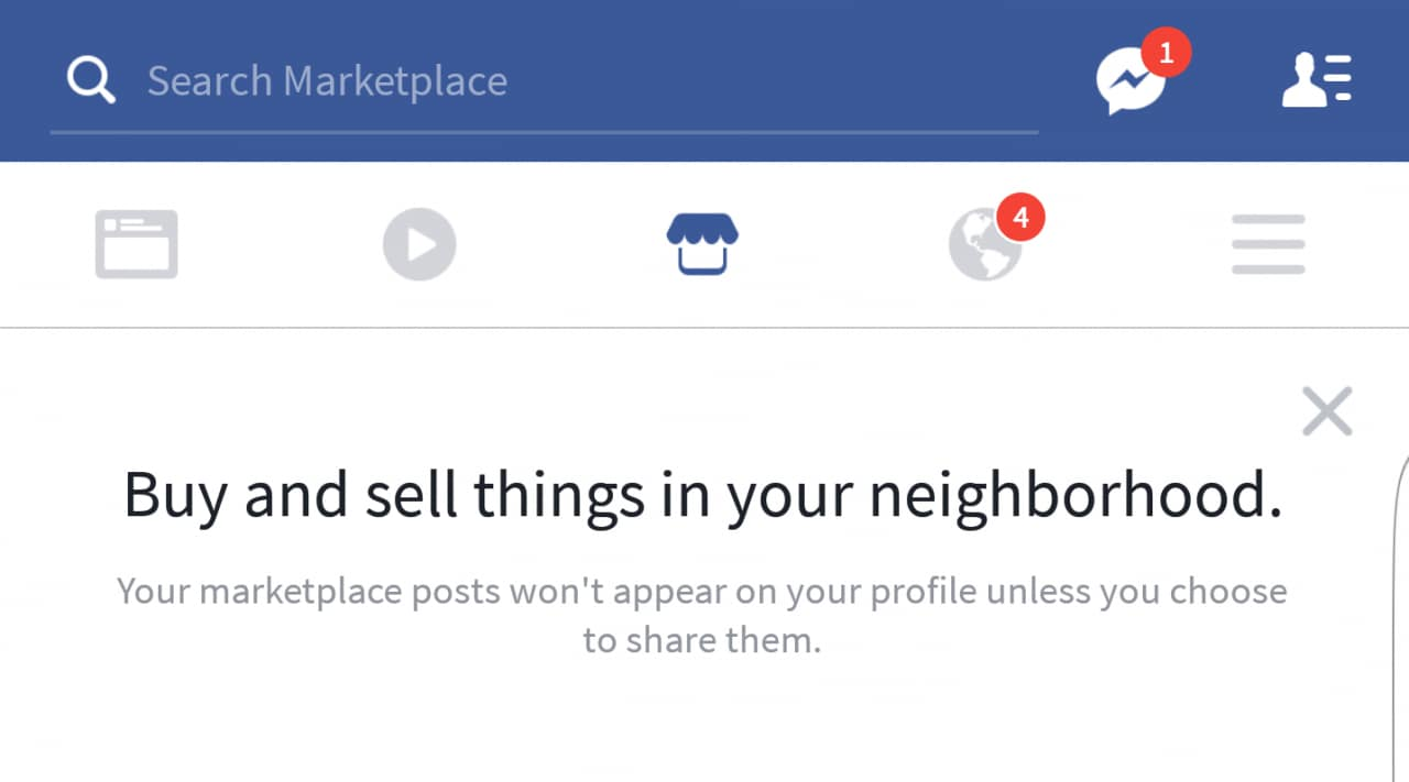 facebook marketplace in fase di testing su android androidworld. Black Bedroom Furniture Sets. Home Design Ideas