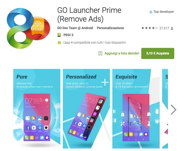 GO Launcher Prime e Ravensburger Puzzle sono le app a 0,10€ della settimana