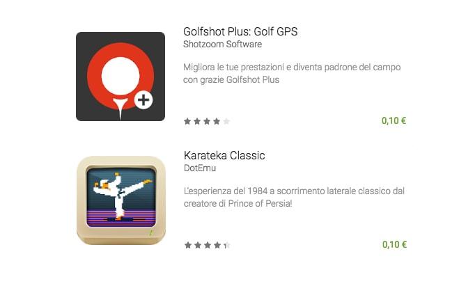 Golfshot Plus e Karateka Classic sono le offerte della settimana di Google Play (foto)