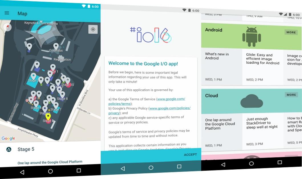L'app del Google I/O è pronta per l'edizione 2016: calendario ed eventi in streaming a portata di tap