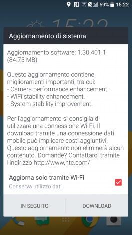 HTC 10 aggiornamento fotocamera - 1