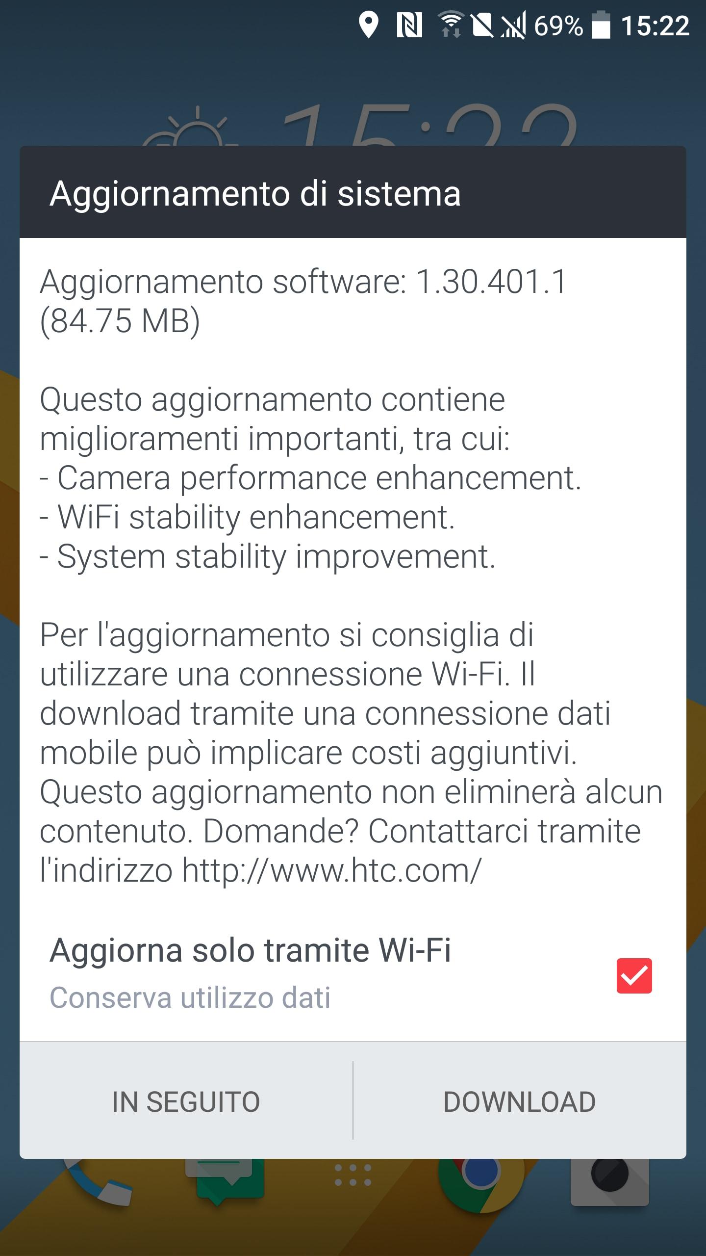 HTC 10 aggiornamento fotocamera – 1