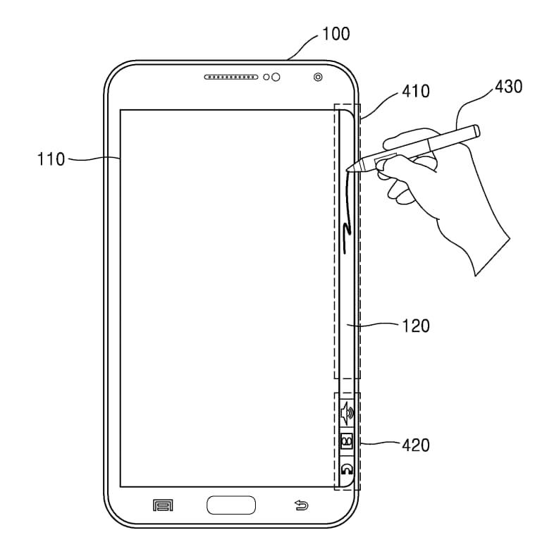 Lato edge digitalizzatore brevetto samsung