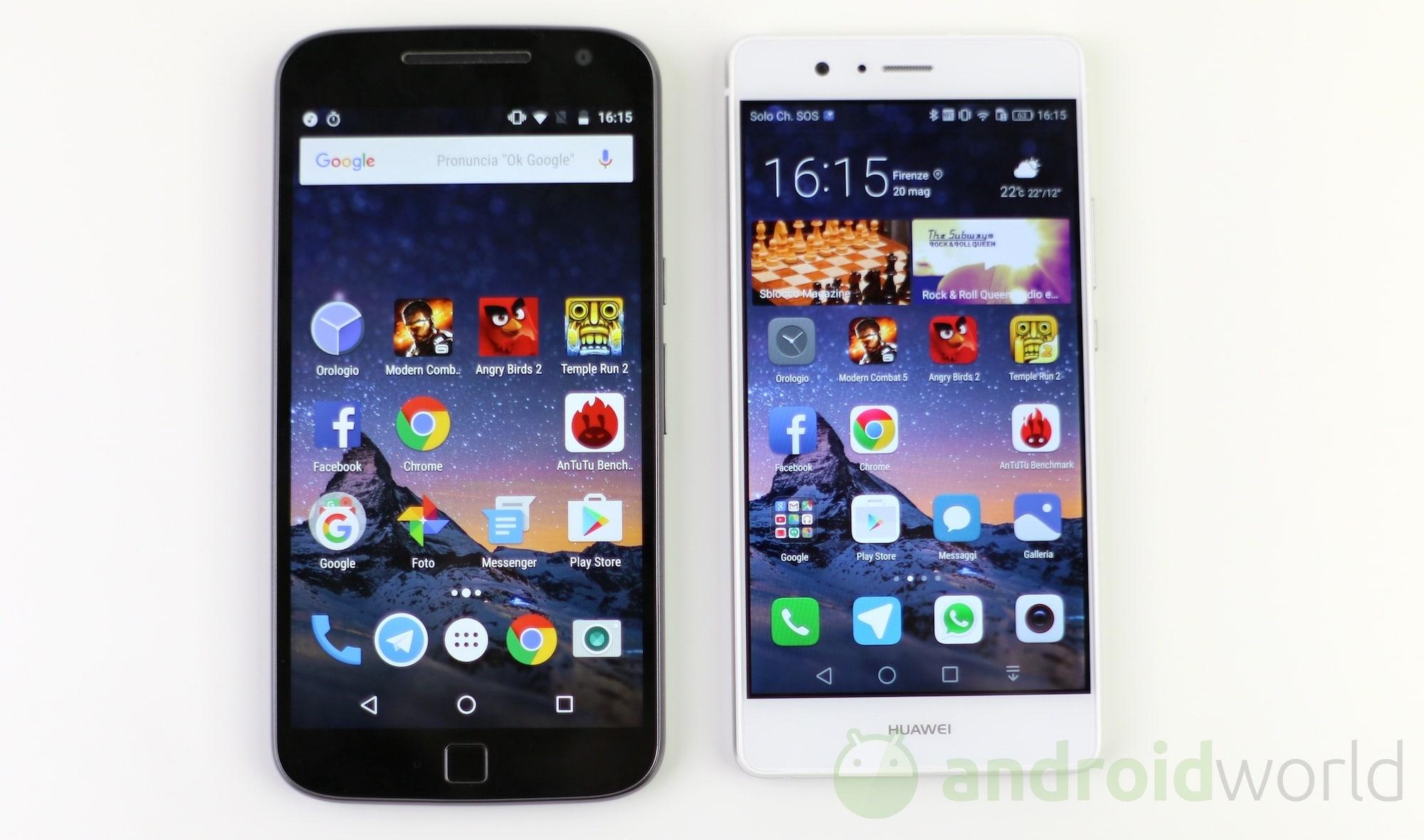 Lenovo Moto G4 Plus vs Huawei P9 Lite – 1