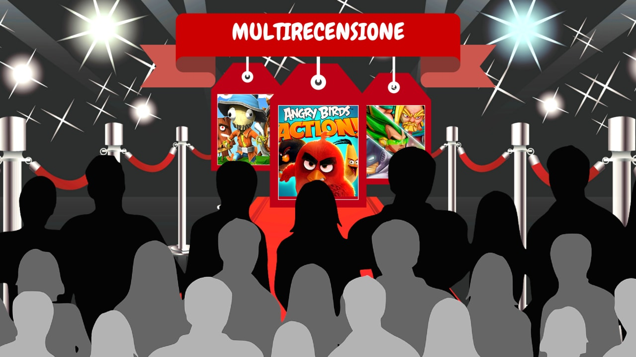 Multirecensione - Stitchy, Angry Birds Action!, Superheros 2