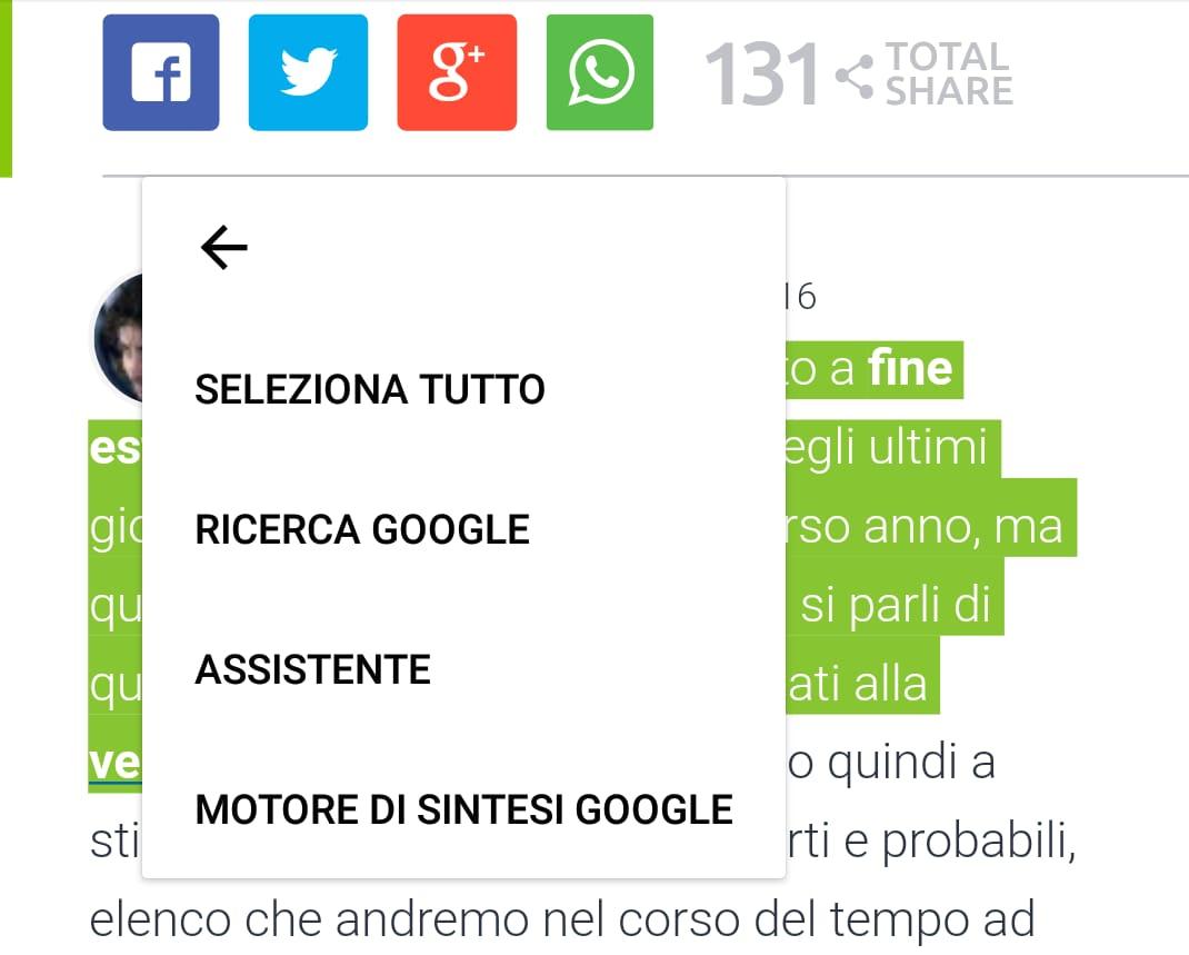Sintesi vocale di Google si aggiorna alla versione 3.9.6, ecco le novità (download apk)