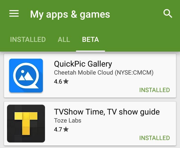 Play Store Beta