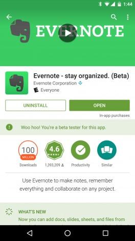 Play Store beta - 1