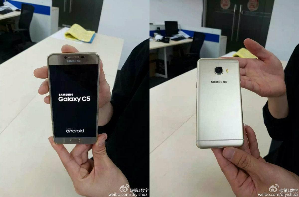 Render ufficiali serviti per Samsung Galaxy C5 (e C7) (foto)