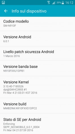 Samsung Galaxy Note 4 Marshmallow - 1