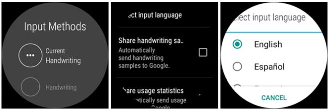 Scrittura a mano libera android wear 2.0 - 3