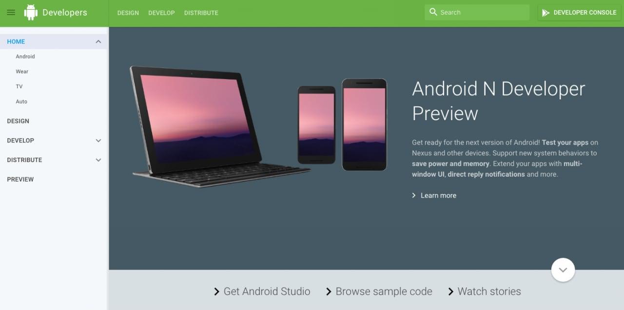 Sito sviluppatori Android