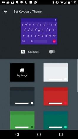 Tastiera Google - temi personalizzati - 1