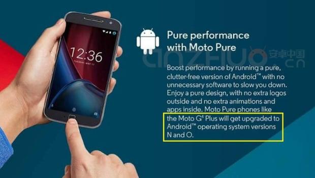 Lenovo Moto G4 Plus sarà aggiornato ad Android N... ed Android O