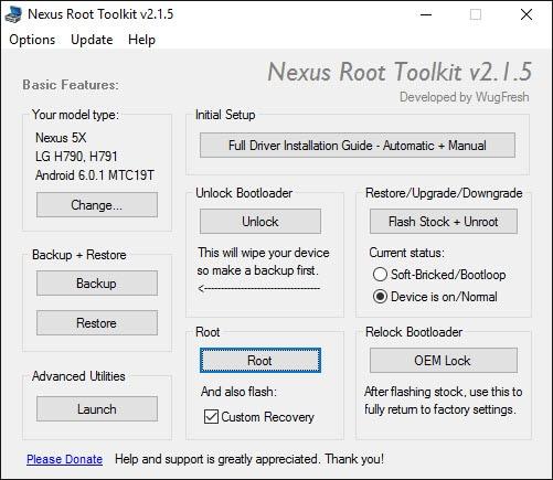 nexus root toolkit 2.1.5