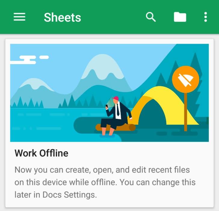 Google migliora la componente offline di Documenti, Fogli e Presentazioni (foto e download apk)