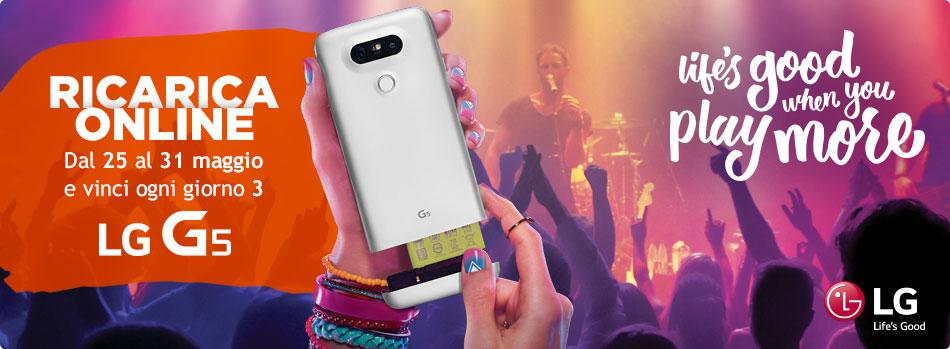 Si può vincere un LG G5 con Ricarica Online di Wind