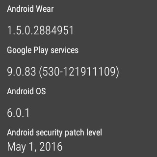 Android Wear 1.5